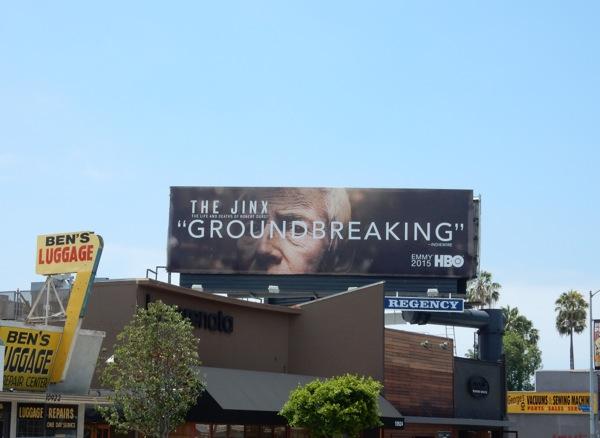 The Jinx Groundbreaking 2015 Emmy billboard