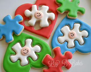 Puzzle Heart Cookies