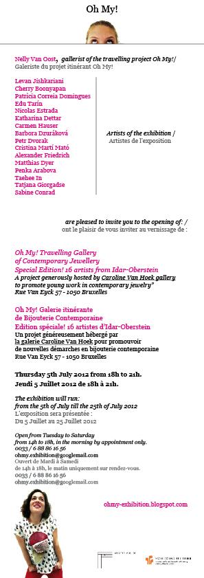 EXPO 'Oh My! Edition Spéciale' - Gallery Caroline Van Hoek, Bruxelles (BE) - 5-25 Juill. 2012 dans Alexander FRIEDRICH (DE) invitationbxl2