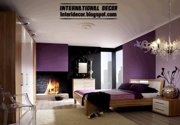 Purple bedroom colour schemes