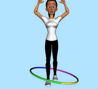 langkah ke ke sepuluh bermain hula hoop