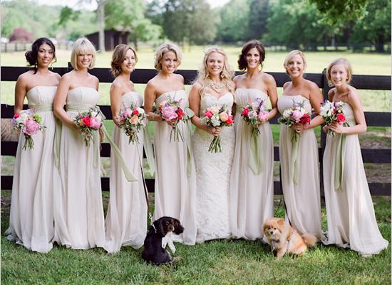 Cream Bridesmaid Dress - Ocodea.com