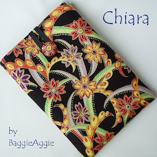 Gorgeous handmade ladies' Kindle case - black, gold, purple, red, orange, yellow and green.