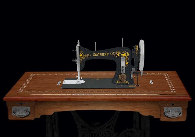 superfice maquina de coser, Gritzner, dibujo