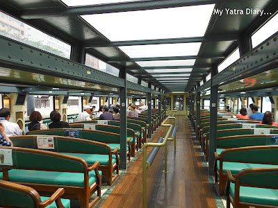 Seating area, Sumida river cruise, Tokyo