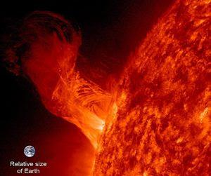 Sonda da Nasa flagra erupção solar com 20 vezes o diâmetro da Terra