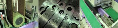 door strike plates polishing machine