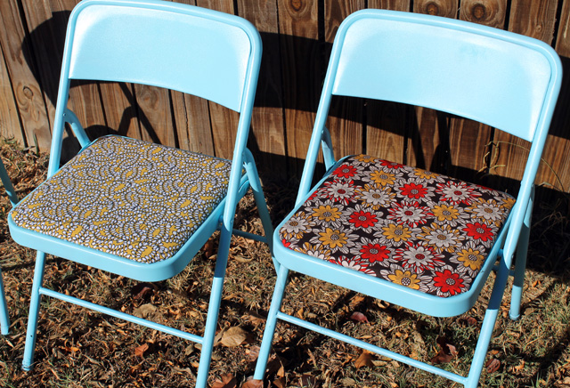 punk projects Restyled Folding Chairs DIY
