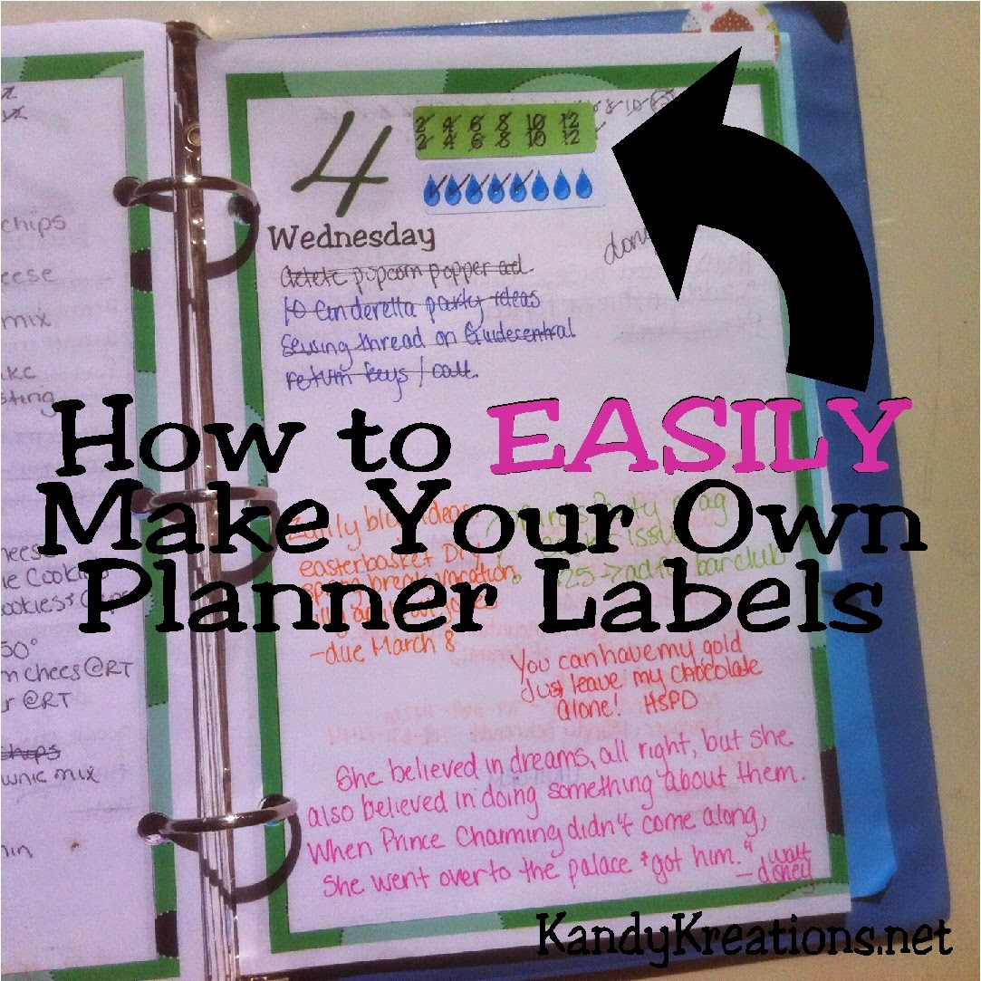 Decorate your planner with your own DIY planner labels for any need or occasion.  You can save money and have the planner of your dreams with just a few easy steps!