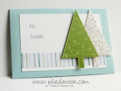 Festival of Trees Gift Card Holder #stampinup #christmas www.juliedavison.com