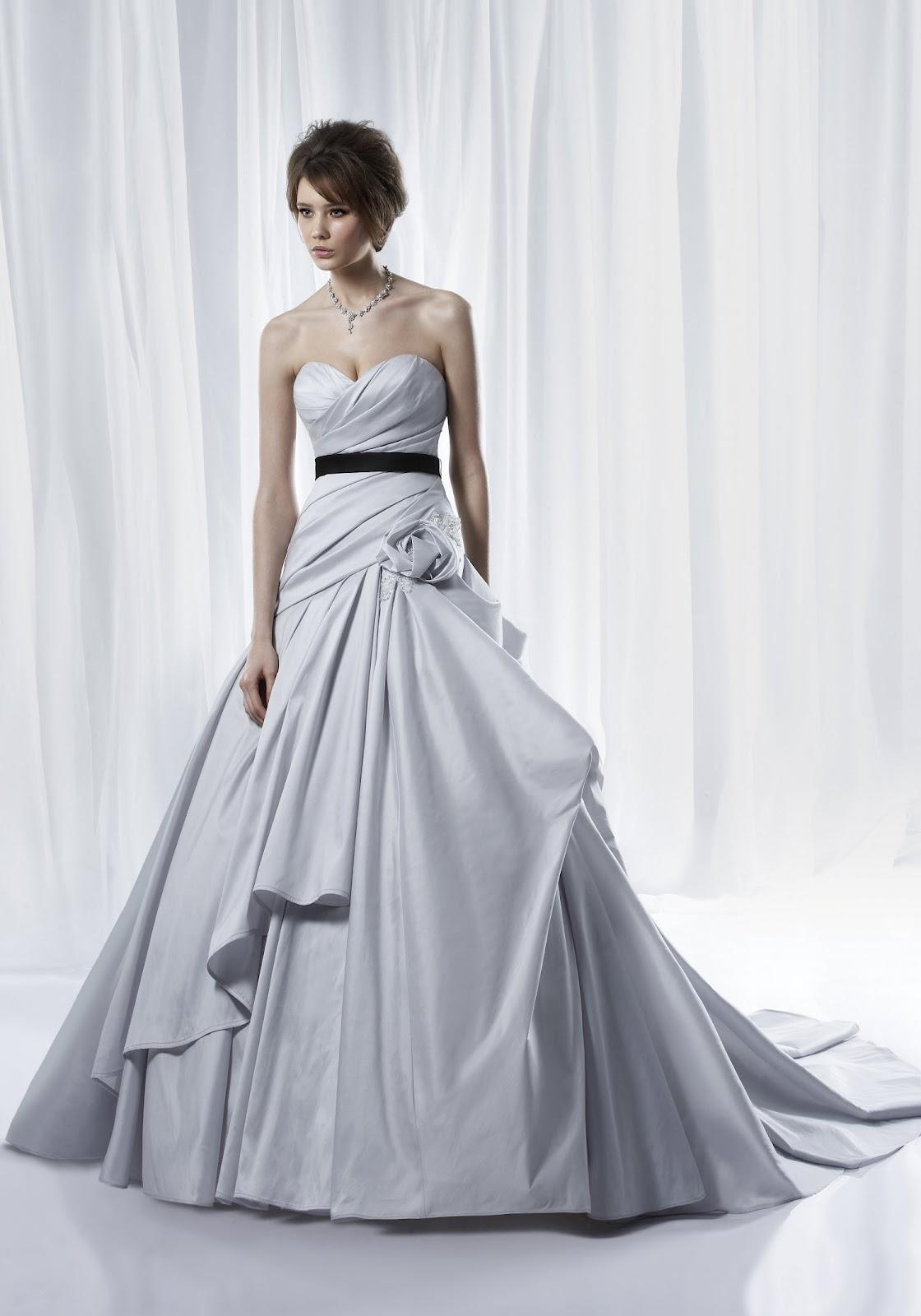 Silver purple wedding dresses