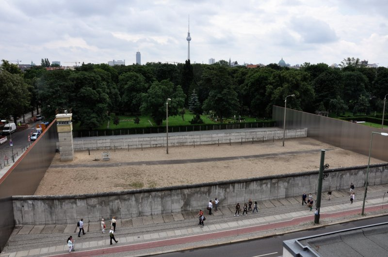 El Muro desde el &quot;Gedenksttte Berliner Mauer&quot;