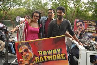 Sonakshi Sinha and Akshay Kumar in Rowdy Rathore