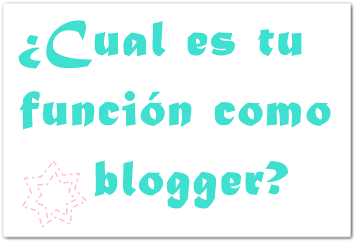 funciones como blogger