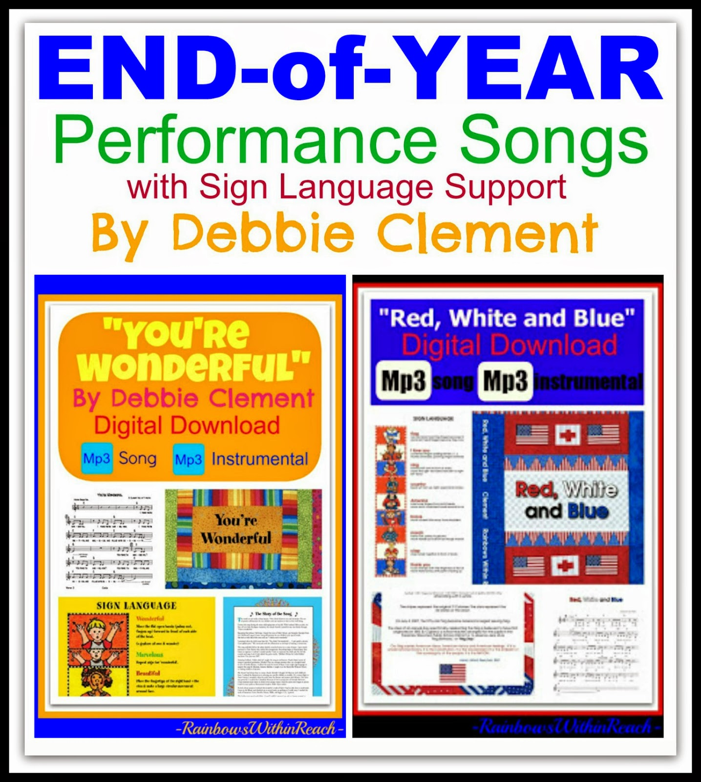 Community Building Songs: Beginning of Year & End of Year by Debbie Clement