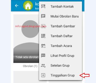 Cara Keluar Dari Group BBM Android