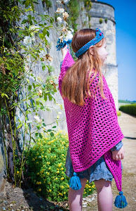 Patroon : shawl met kwastjes