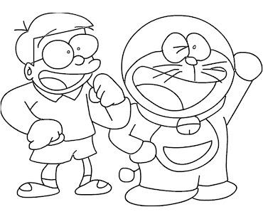 #2 Doraemon Coloring Page