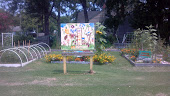Community Garden Sign in front of Methodist Church