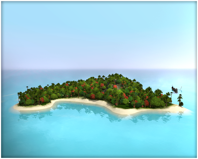 Sims  Castaway Island Map