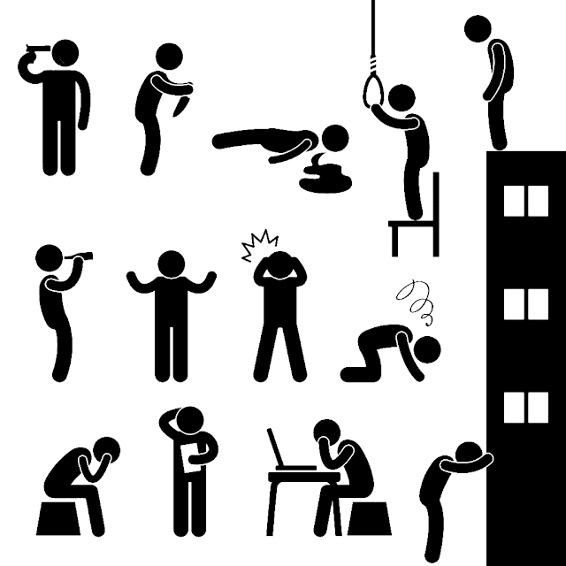 Suicide pictograms - Selvmord piktogrammer