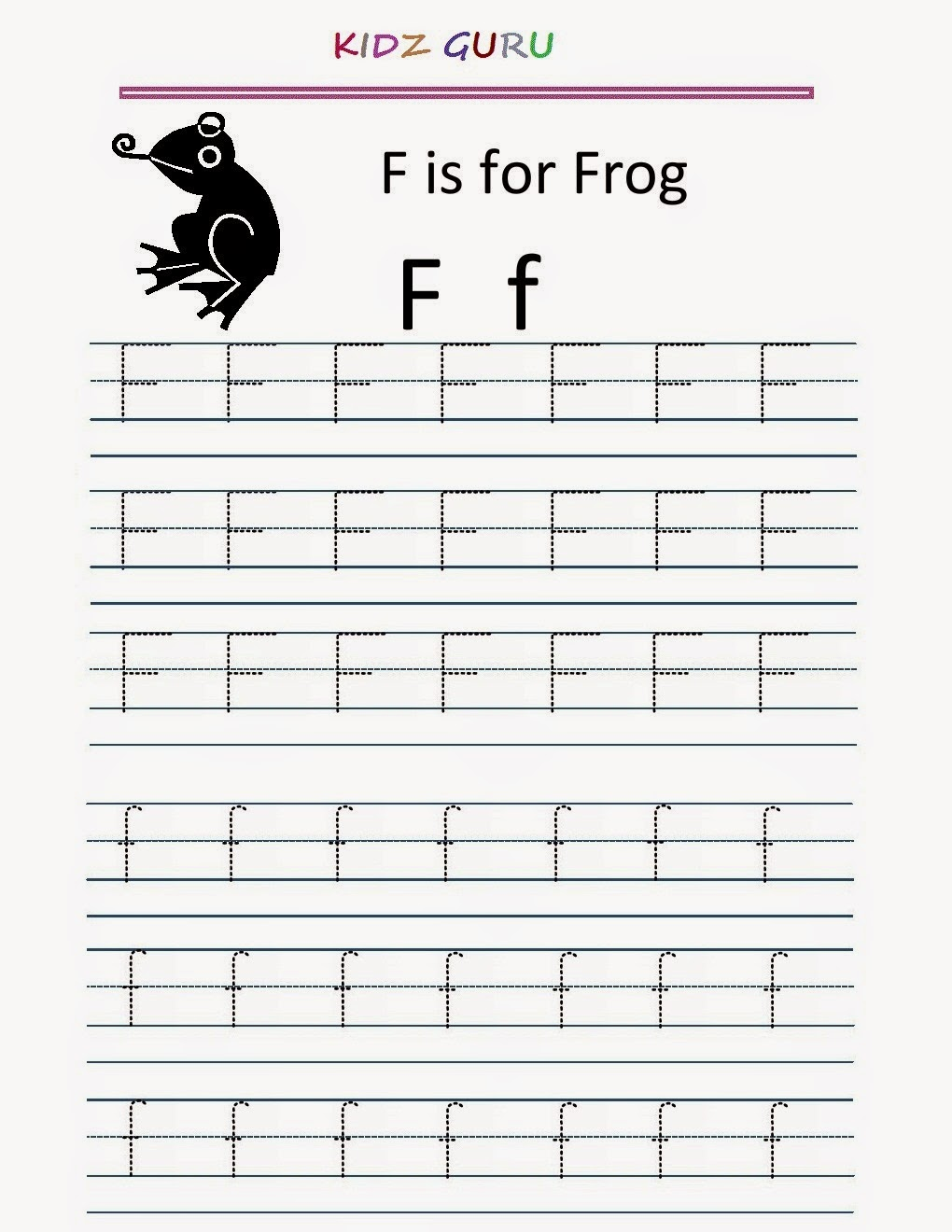 worksheet Ff Worksheets Phonics kindergarten worksheets printable tracing worksheet alphabet f y z z