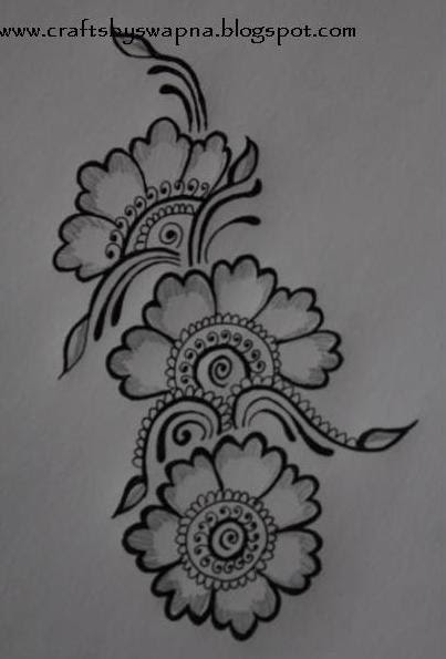 Simple Mehndi Patterns On Paper : My craft ideas mehendi design