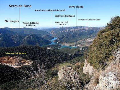 Extensa panoràmica cap a la banda sud des del mirador de la Roca de Guixers. Autor: Ricard Badia