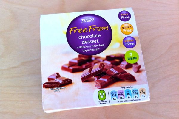 Tesco Free From vegan chocolate desserts