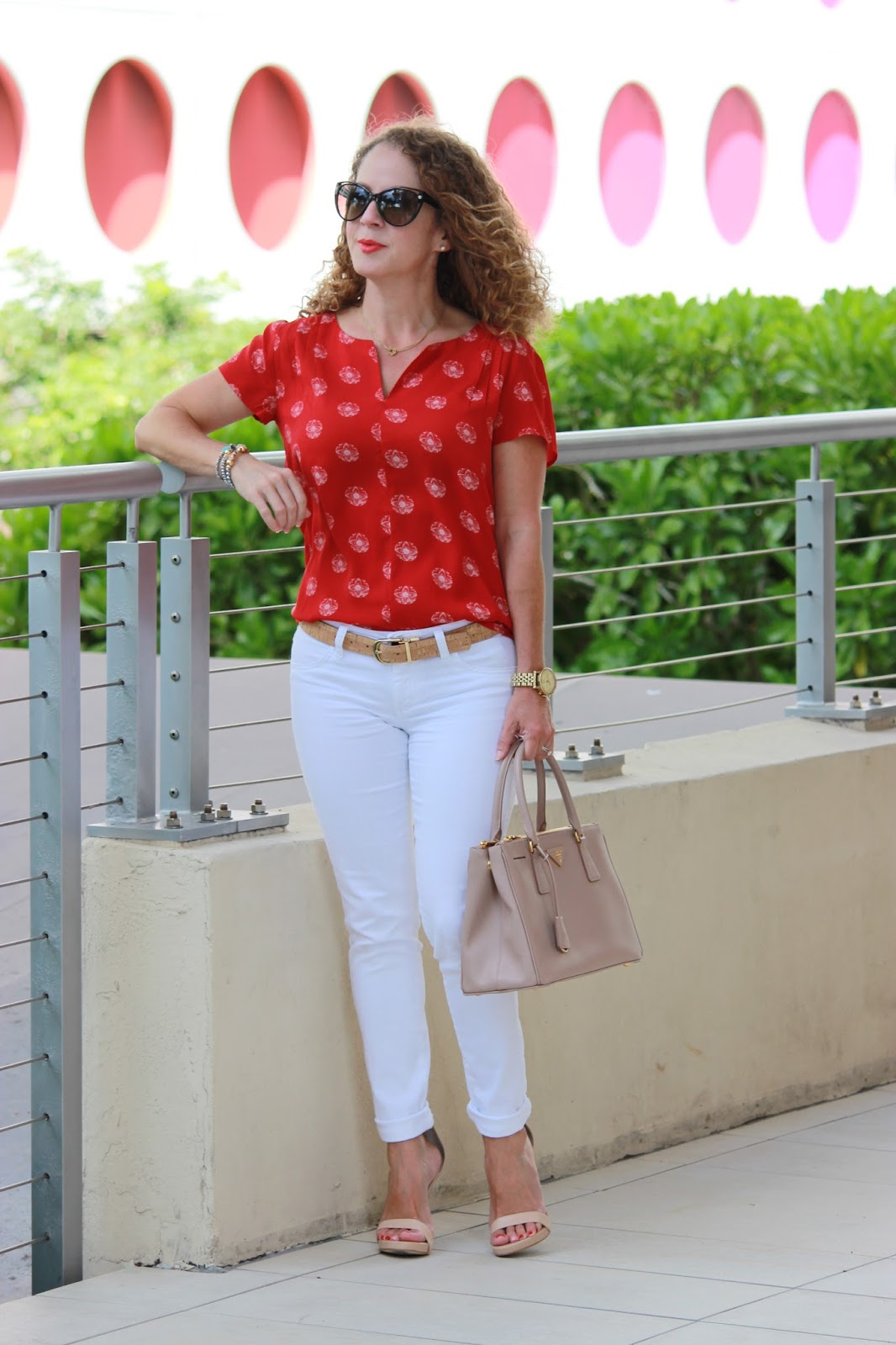 Girl in a Hot City: Red and White