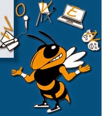GA Tech Bee juggles letters W O V E N