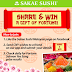 "Sakae Sushi ""Share & Win A Gift of Fortune"" Contest"