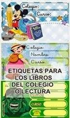 PARA LOS LIBROS Y LIBRETAS DEL COLE DE TUS HIJOS