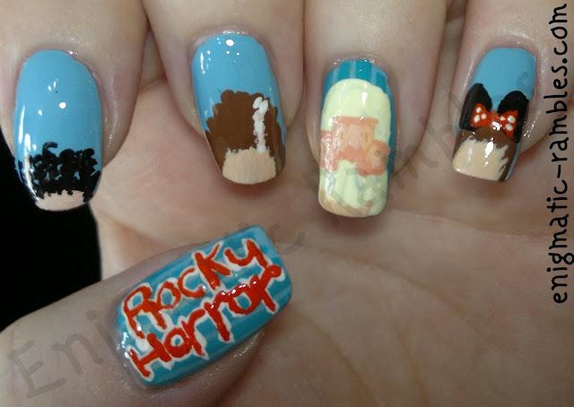 Rocky-Horror-Picture-Show-nails-nail-art-frank-n-furter-magenta-usherette-columbia