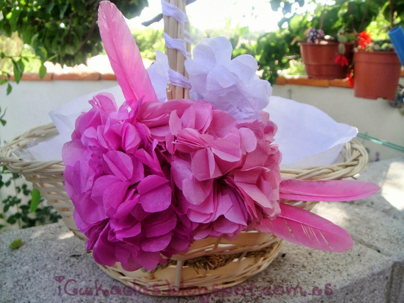 iCukadas Tutorial Como decorar una cesta para regalos de boda