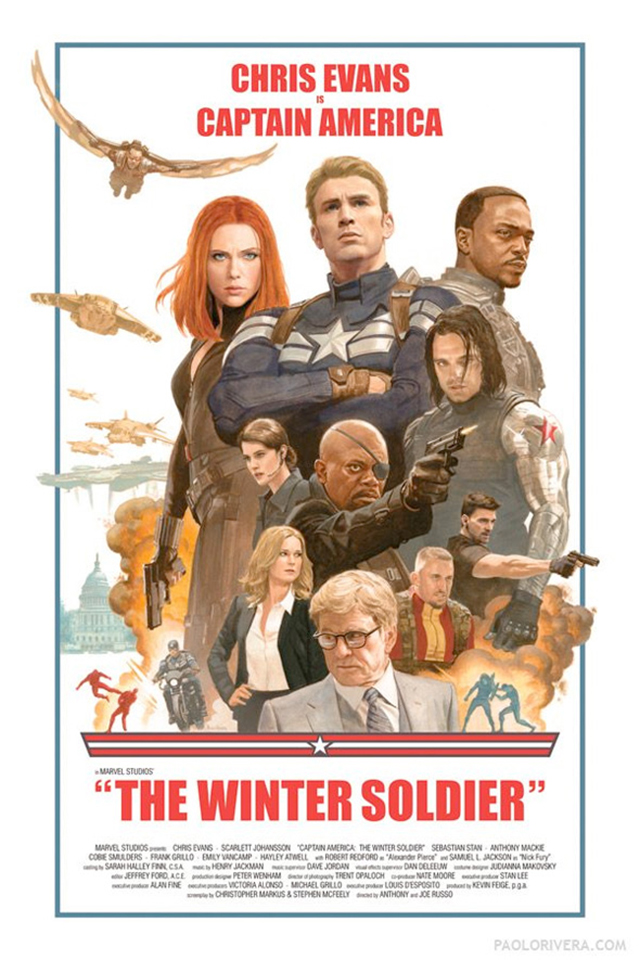 CAPTAIN AMERICA: THE WINTER SOLDIER, POR PAOLO RIVERA