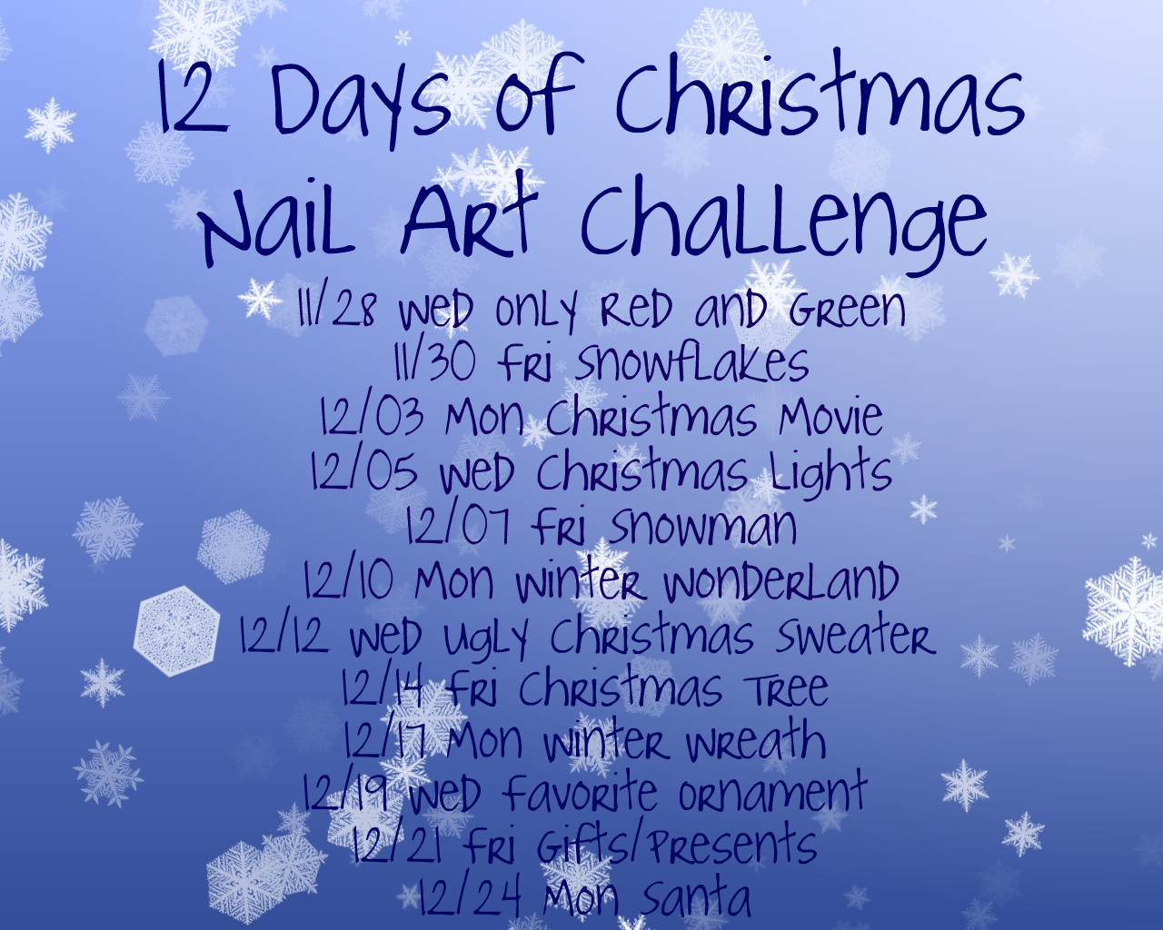 12 days of christmas nail art day 1 red and green - 12 Redneck Days Of Christmas