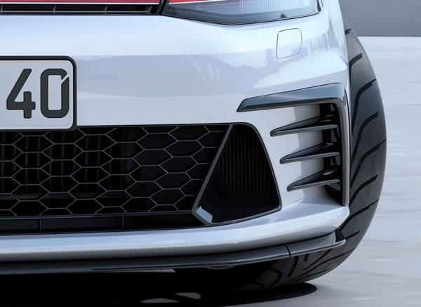 VWの「Golf GTI Clubsport」フロントスポイラーのアップ画像
