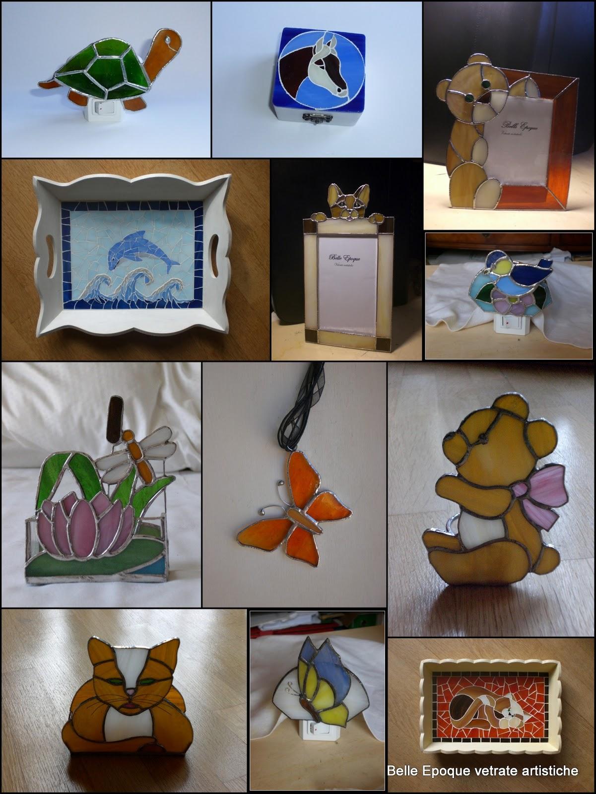 Vetrate artistiche belle epoque animali da compagnia for Le piu belle lampade da tavolo