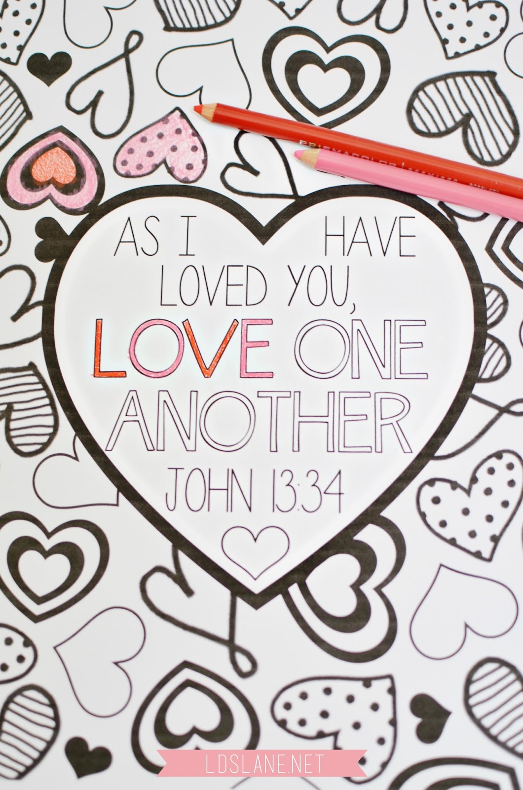 Scripture Coloring Page Love One