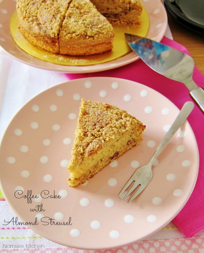 Coffee Cake with Almond Streusel Recipe from Nomsies Kitchen
