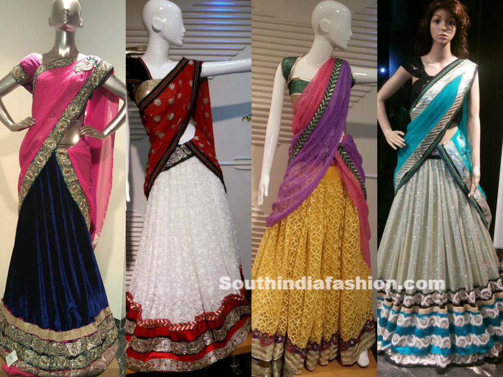 Beautiful designer half sarees by kashish designers hyderabad