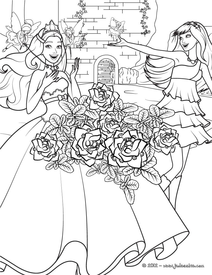 Desenhos Para Colorir De Barbie A Princesa E A Popstar