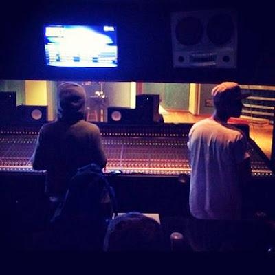 fotos de lil wayne y justin bieber en el estudio grabando cancion canciones tha carter V 5 disco