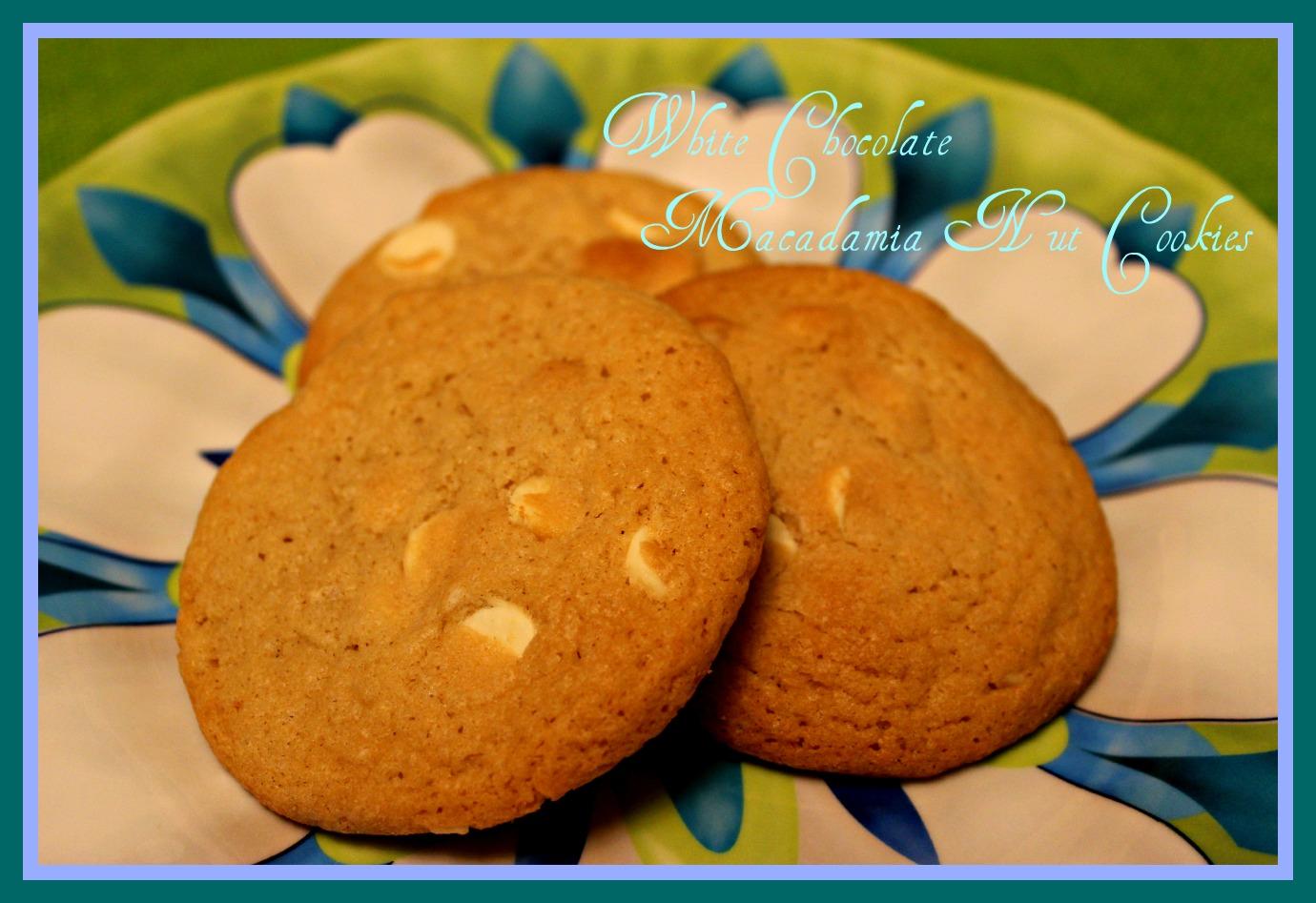 White Chocolate Macadamia Nut Cookies!