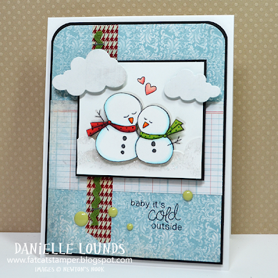Snowman card by Danielle Lounds for Newton's Nook Designs Inky Paws Challenge