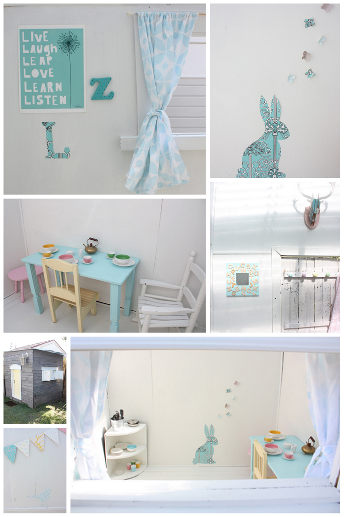 cubby house furniture. You\u0027ll No Doubt Recognise The Bunting, Some Of Chairs, Deerhead And Wallpaper Cubby House Furniture A