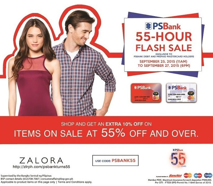PSBank, Zalora 55 Hour Flash Sale
