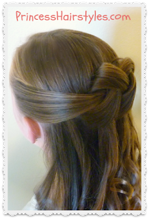 Homecoming Hairstyle, Woven Knot Tutorial