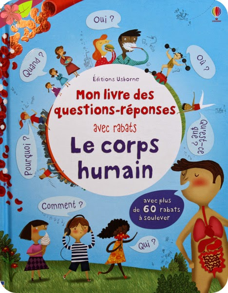 Mon livre des questions-réponses avec rabats : Le corps humain - éditions Usborne